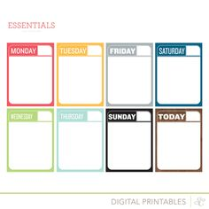 Picture of Essentials Printable Journal Cards