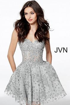 In Design; Short Silver Cocktail Dresses Feathers Sweetheart Neck Corset Graduation Homecoming Dress Beading Bodice Girls Gowns Novel