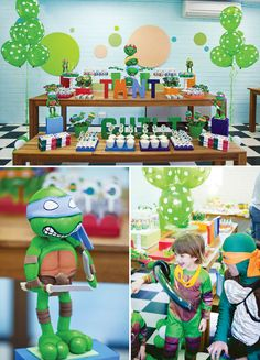 kickin' Ninja Turtles party!