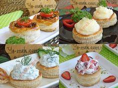 Fransız Vol-au-vent (Volovan) Tarifleri Vol Au Vent, Snack Bar, Food Illustrations, Mini Cupcakes, Ham, Cheesecake, Appetizers, Cooking Recipes, Sweets