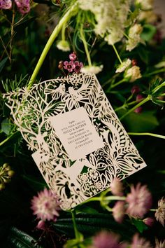 Laser cut wedding stationery | Winter Bridal Inspiration | Woodland | Stationery By Emma Jo | Flowers By Wild Orchid | Images by Jo Bradbury Wedding Photography | http://www.rockmywedding.co.uk/the-winters-tale/