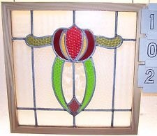 Old  SASH!! Vintage Leaded English stained glass window