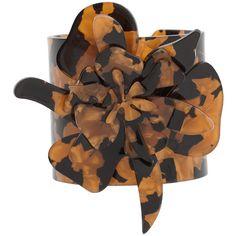 MANGO Rigid Bracelet ($30) ❤ liked on Polyvore featuring jewelry, bracelets, bangle bracelet, bangle jewelry, hinged bangle, flower bangle bracelet and bracelets bangle