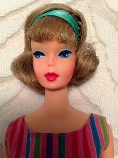 A stunning side part American Girl Barbie from the collection of Laurel Berry.