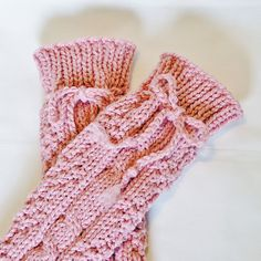 Girls Legwarmers Hand Knitted Antique Rose Pink by knitwit4ever on Etsy, $24.00