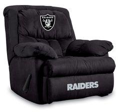 Oakland Raiders NFL Home Team Recliner Chair/Furniture