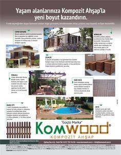 Komwood / Yaşam Alanlarınıza Kompozit Ahşap'la Yeni Boyut Kazandırın