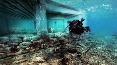 Pavlopetri, the oldest submerged city in the world.Located underwater off the coast of southern Laconia, in Peloponnese, Greece, the city of Pavlopetri is about 5.000 years old..