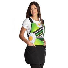 Estola para el comercio, el hogar, el colegio: un uniforme de trabajo original y práctico Blouse, Baseball, Baby, Tops, Aprons, Flowers, Ideas, Fashion, Templates