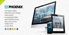 Phoenix - Responsive One Page Parallax Template . Phoenix is a modern multipurpose template. It can be used by a creative agency, a corporate company or as personal portfolio for a