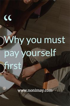 """""""Pay yourself first"""" is a rather savvy term for a simple financial practice that not enough people make use of. Simply put, it's the act of setting aside the money you want to contribute to savings goals, investments, and other financial plans as soon as you get paid. But why should you start making use of it and what are the real benefits? #financialplanning #debt #finance #finances #planning #money #income #advice #tips Financial Goals, Financial Planning, Make More Money, How To Raise Money, Money Tips, Money Saving Tips, Pay Yourself First, Investment Portfolio, Debt Free"""