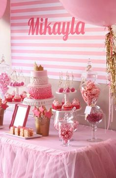 50 Birthday Party Ideas For Girls. Throw the perfect Girl Birthday Party with all of these great ideas! Perfect for any girl in your life from 1 to - Girl Party Ideas - The Best Girl Birthday Parties Pink And Gold Birthday Party, First Birthday Parties, Cake Birthday, Birthday Ideas, 1st Birthdays, Pink Gold Party, Pink Und Gold, Rose Gold, Pink White