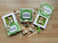 Kleine Oster Goodie's in 3 verschiedenen Varianten der Shadow Box, inkl. Anleitung Stampin' Up!