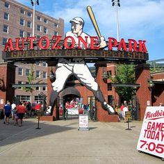Autozone Park downtown Memphis ... home of the Redbirds (farm team for the St. Louis Cardinals)
