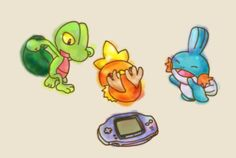 Pokemon - Treecko, Torchic, Mudkip