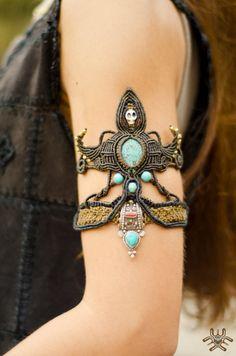 AVATAR+de+Bracelet+tribal+chamanique+pièce+Unique+à+par+MaMachavaya                                                                                                                                                                                 Plus