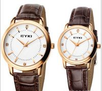 Fashion Couple watches Quartz Wristwatches for Men and Women Adjustable, Leather Band