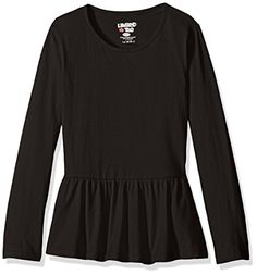 Limited Too Girls' Long Sleeve Peplum T-Shirt *** You can get more details at