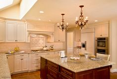 Traditional, formal white kitchen