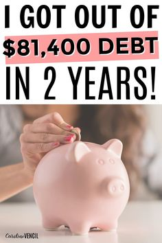 This is AMAZING! She paid off $81,000 in debt in 2 years! This is a great debt free story. She also shows you how she made the room in her budget for paying off debt. 10 stpes to take now to get out of debt. How to get out of debt. Top 10 Things I Did to Day Off Debt in 2 Years.