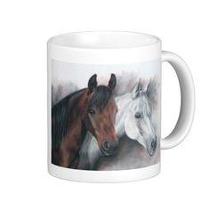 Mahogany and Silver - Horse Mug - available via Zazzle
