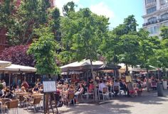 Stay away from the touristy Plaza Mayor when deciding where to eat in Madrid! Opt for a better option, like Plaza de Santa Ana!