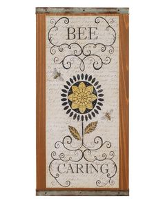 Bee Caring Sign Wall Decor Set Of