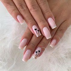Latest Nail Designs, Nail Tip Designs, Pretty Nail Designs, Goth Nails, Chic Nails, Trendy Nails, Feather Nail Art, Classy Acrylic Nails, Palm Nails