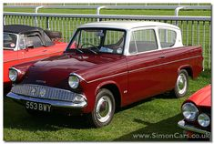 Ford Anglia - Our Dad bought one just like this in the early VNV 683 I think! Retro Cars, Vintage Cars, Ford Anglia, Van Car, Old Fords, Automotive Art, Car Ford, Small Cars, Cars And Motorcycles