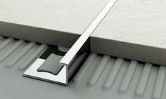 How to Lay the Floor Tiles Floor Design, Tile Design, House Design, Architecture Details, Interior Architecture, Joinery Details, Tile Trim, Stainless Steel Polish, Types Of Flooring