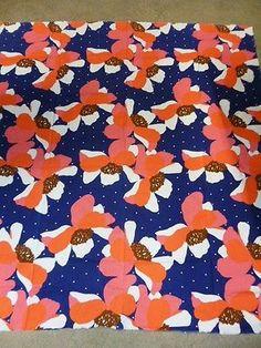 Tampella Finland Marjatta Metsovaara Floral design Vintage 70's Fabric