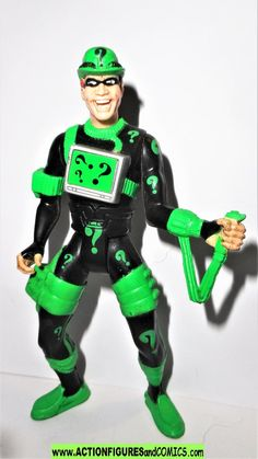 batman forever RIDDLER kenner 1995 1996 movie series fig Forever Movie, Batman Action Figures, Figure Size, Riddler, Black Suits, Overalls, Movies, Catsuit, Films