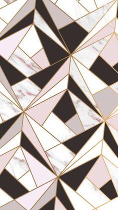Black And White Pin Up Girl Wallpaper Pink Gold White Geometric Mosaic Iphone Wallpaper