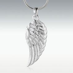 Wing+of+an+Angel+Sterling+Silver+Cremation+Jewelry+-+Engravable