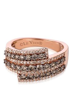 Le Vian® Chocolate Diamond® and Vanilla Diamond® Band in 14k Strawberry Gold®