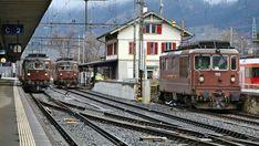 Bls Re 4/4 loks Swiss Railways, Pennsylvania Railroad, Commercial Vehicle, Model Trains, Locomotive, Switzerland, Countryside, Transportation, Europe