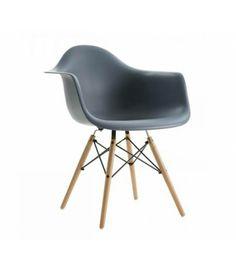 Charles Ray Eames Style DAW Arm Chair - Dark Grey £44.94