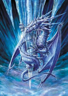 anne-stokes-ice-dragon.jpg (1500×2132)