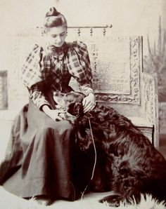 1890s cdv. love the plaid blouse w/ solid skirt.