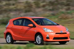 2012 Toyota Prius C in Habanero Orange...the best of both color and utility.