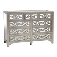 libby silver mirrored 9drawer dresser - Mirrored Dresser Cheap