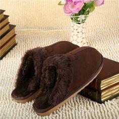 2015 Winter Sheepskin Wool House Slippers for men - Men's Sheepskin Slippers - Sheepskin Slippers