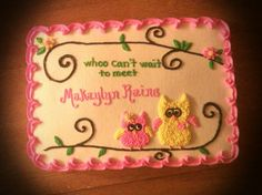 Pink Chevron And Owl Baby Shower Cake | Nevaeh Graceu003c3 | Pinterest | Boy  Babies, Boy Baby Showers And Baby Shower Cakes