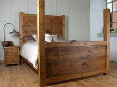 H&F Chunky 4 Poster Bed - H&F Plank Furniture