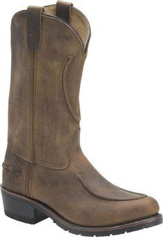 Men's Double H Boot 12 Inch Work Western - Tan Crazyhorse