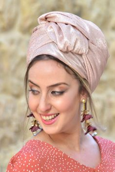 """🌻🌺A charming light pink headscarf dotted with delicate sparkles. Headscarf Tichel handmade """"Mitpachat"""" Head Covering, Scarf, Tichel, fashionable and comfortable. Beautiful color design! #hats #scarves #vintagefashion #fashion#haircovering #snood #hijab #hijabtutorial #tutorialhijab#moda #hijabers #tutorialhijabvideo #hijabstyle#hijabootd #pashmina Hijab Tutorial, Awesome Gifts, Small Shops, New Pins, Head Wraps, Fabric Design, Best Gifts, Hair Makeup, Vintage Fashion"""