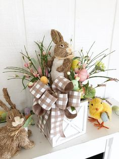 48 Rustic Easter Decorations Bringing a Farmhouse Appeal to Your Home - Page 4 o. 48 Rustic Easter Decorations Bringing a Farmhouse Appeal to Your Home – Page 4 of 48 – Ciara Decor Easter Tree Decorations, Easter Wreaths, Easter Centerpiece, Spring Wreaths, Centerpiece Ideas, Thanksgiving Decorations, Easter Gift, Easter Crafts, Easter Bunny