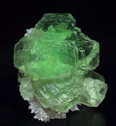 Fluorite with Quartz.