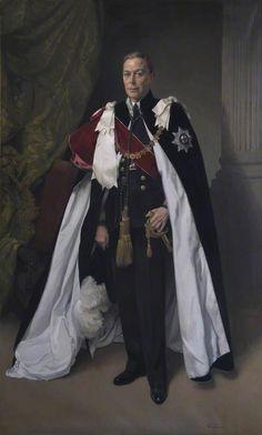HM King George VI (1895–1952) Herbert James Gunn (1893–1964) The Library and Museum of Freemasonry George Vi, Papua Nova Guiné, Trinidad E Tobago, Order Of The Garter, King Outfit, English Royal Family, James Gunn, English Royalty, Rms Titanic