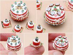 Paříž Miniatury: New vánoční miniaturní dorty nyní na Etsy